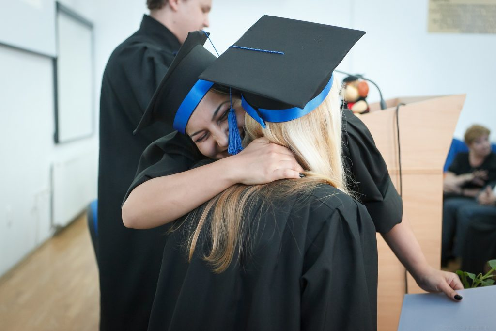 woman graduating community college