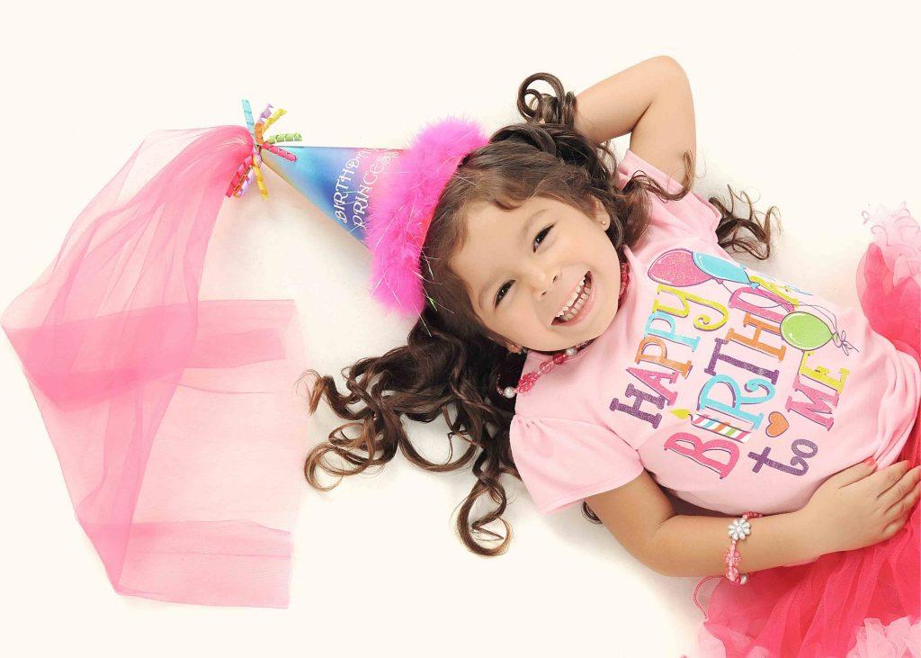 girl celebrating her birthday